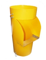 RUBBISH CHUTE SIDE HOPPER YELLOW